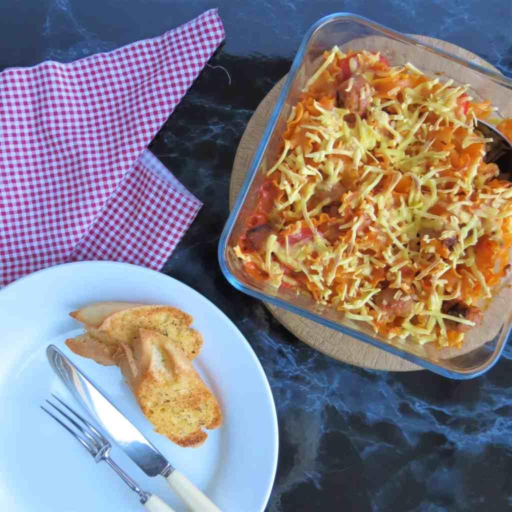 Sausage Pasta Bake; gluten and dairy free 4
