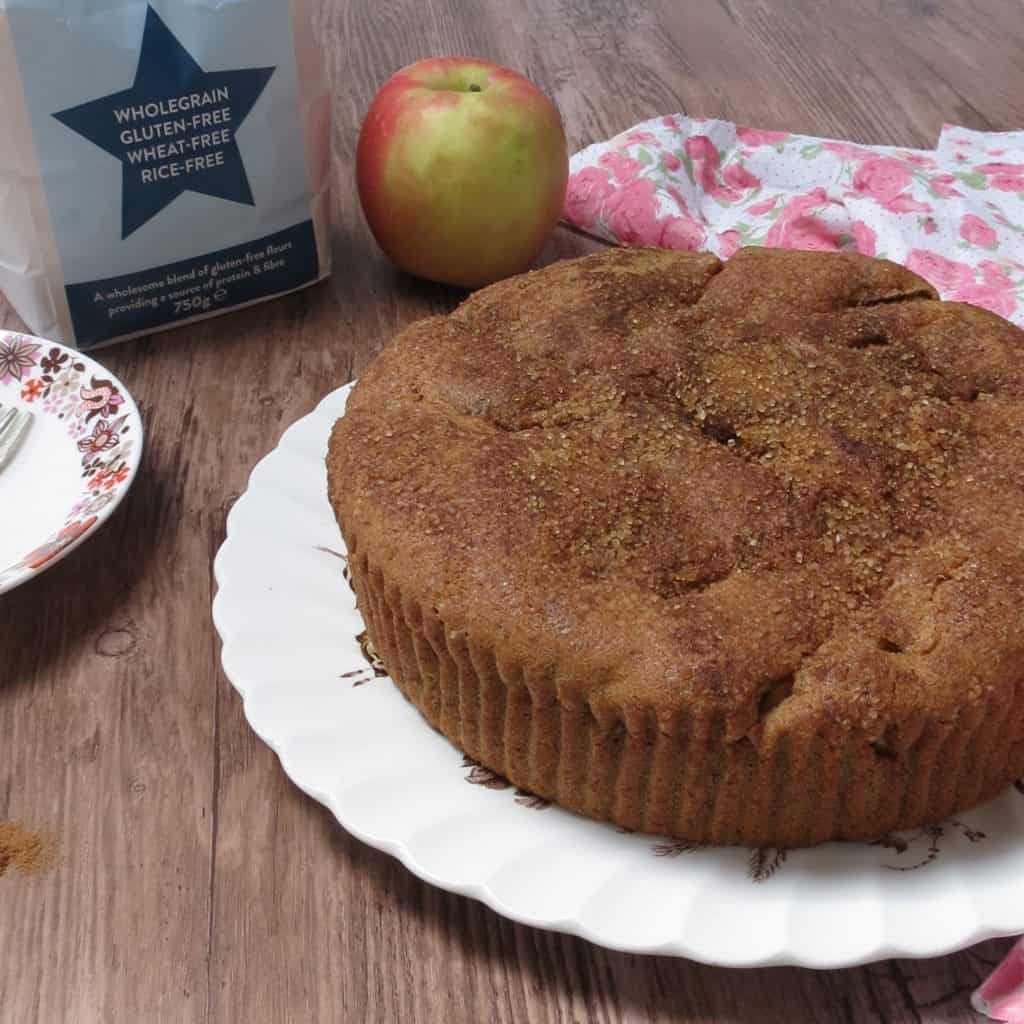 Apple and Cinnamon Cake; Simple to make and deliciously moist, this is a huge family favourite. #glutenfree #dairyfree #eggfree #vegan #wheatfree #freefrom
