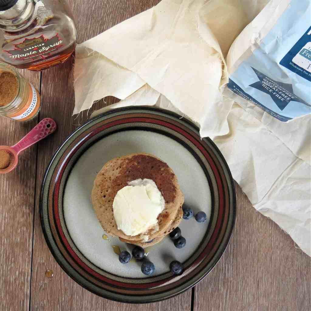 Apple Cinnamon Pancakes; gluten free, dairy free, egg free