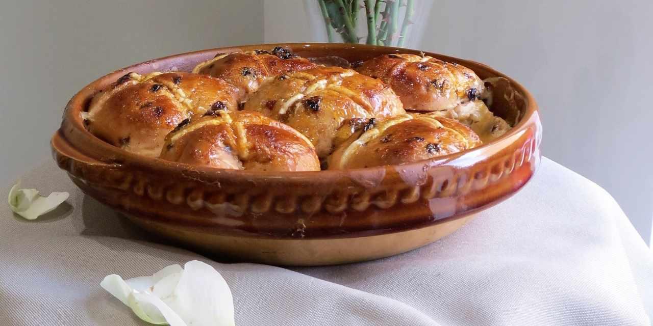 Hot Cross Bun and Butter Pudding   gluten free and vegan