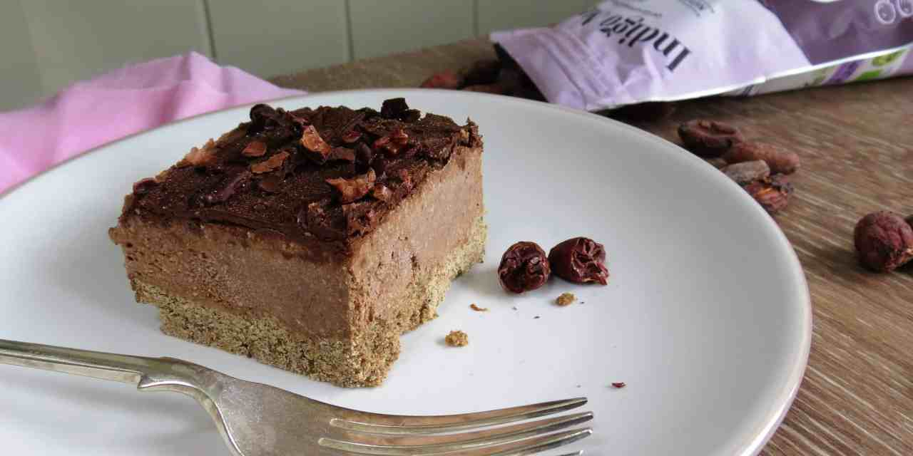 Delicious Mocha Walnut Slice; vegan and gluten free