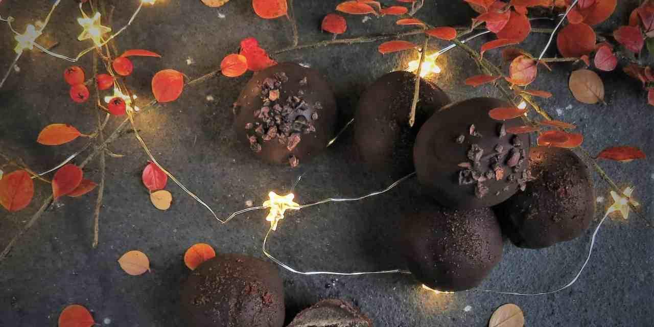 Finest Cherry Brandy Truffles; gluten free, dairy free and vegan
