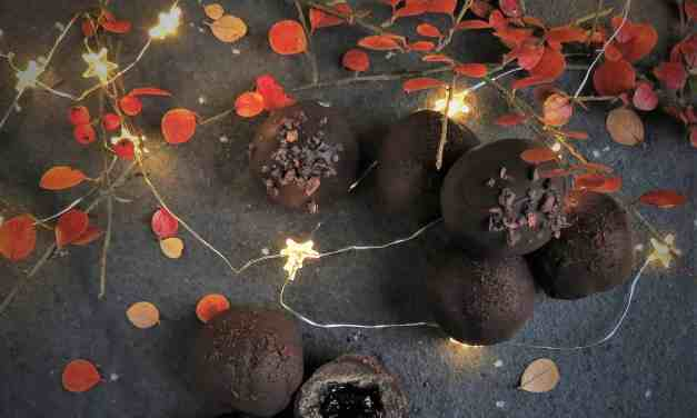 Finest Cherry Brandy Truffles; gluten free, dairy free and vegan