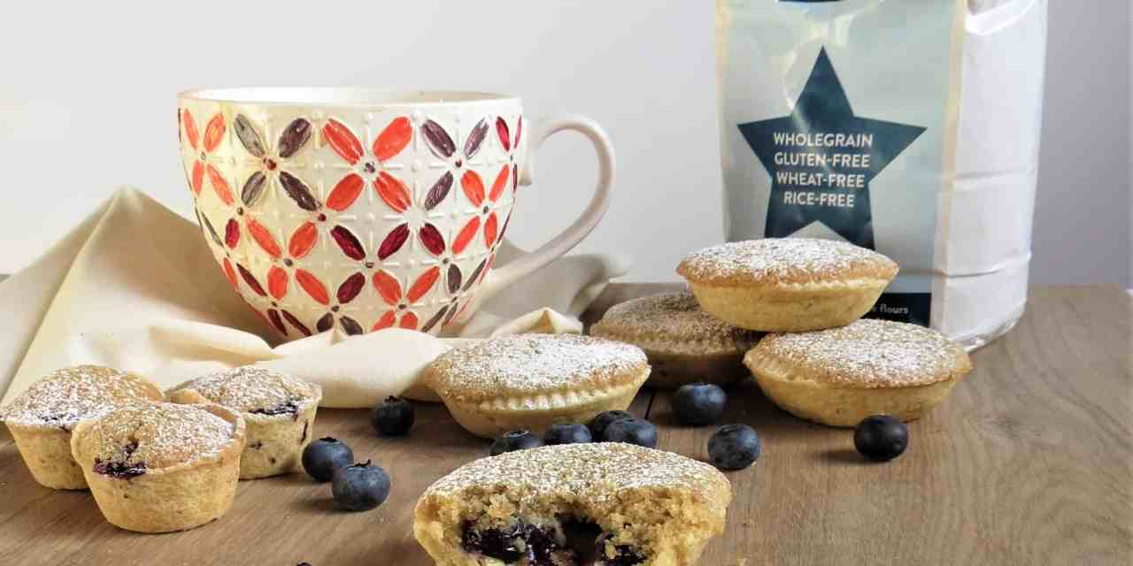 Blueberry Frangipane Tarts; gluten free, vegan and delicious