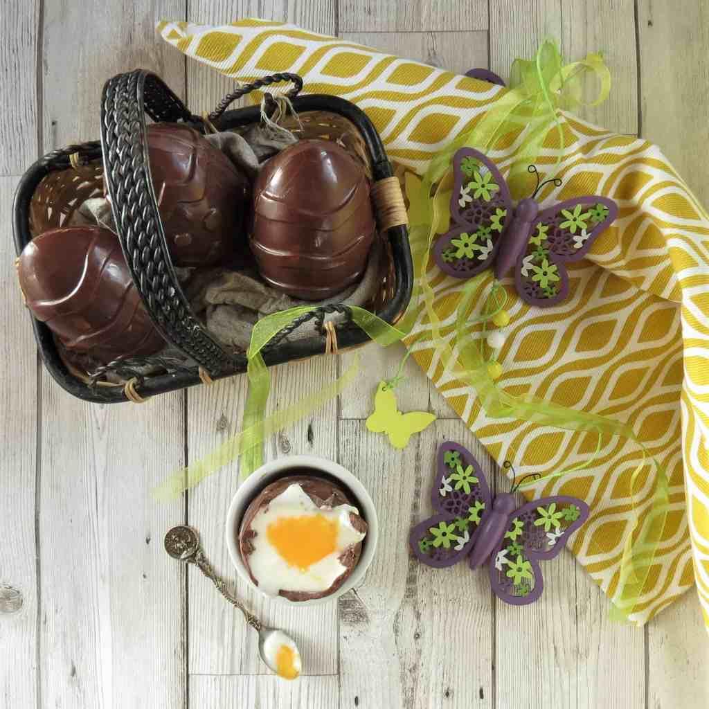 Vegan Creme Egg, homemade and supersized