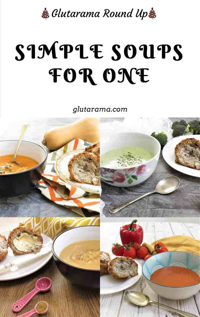 Simple Soups for One; five simple recipe to make soup for one, perfect for work lunches or one the go meals; these are also #dairyfree #glutenfree too #soup #comfortfood #veggies #5aday #healthy #supper