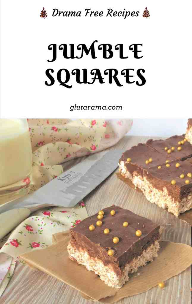 Jumble Squares; a great way to use up left over chocolate from Christmas and Easter, depending on your stash these can easliy be made not just gluten free but also dairy free too. #leftovers #christmaschocolate #easterchocolate #recipehack #freefrom #glutenfree #dairyfree #freefromgang #marshmallow #traybake #nocook #kidstreats