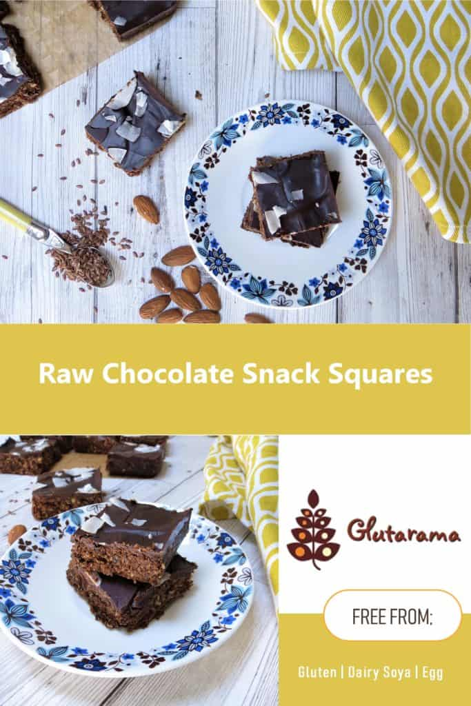 So simple to make and perfect to beat the afternoon dip in energy my Raw Chocolate Snack Squares are made with pumpkin protein powder, #glutenfree #dairyfree #eggfree #vegan #healthy #refinedsugarfree