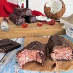 Cherry Ripe Bar (gluten and dairy free) just like the Cadbury's Cherry Bliss Bar