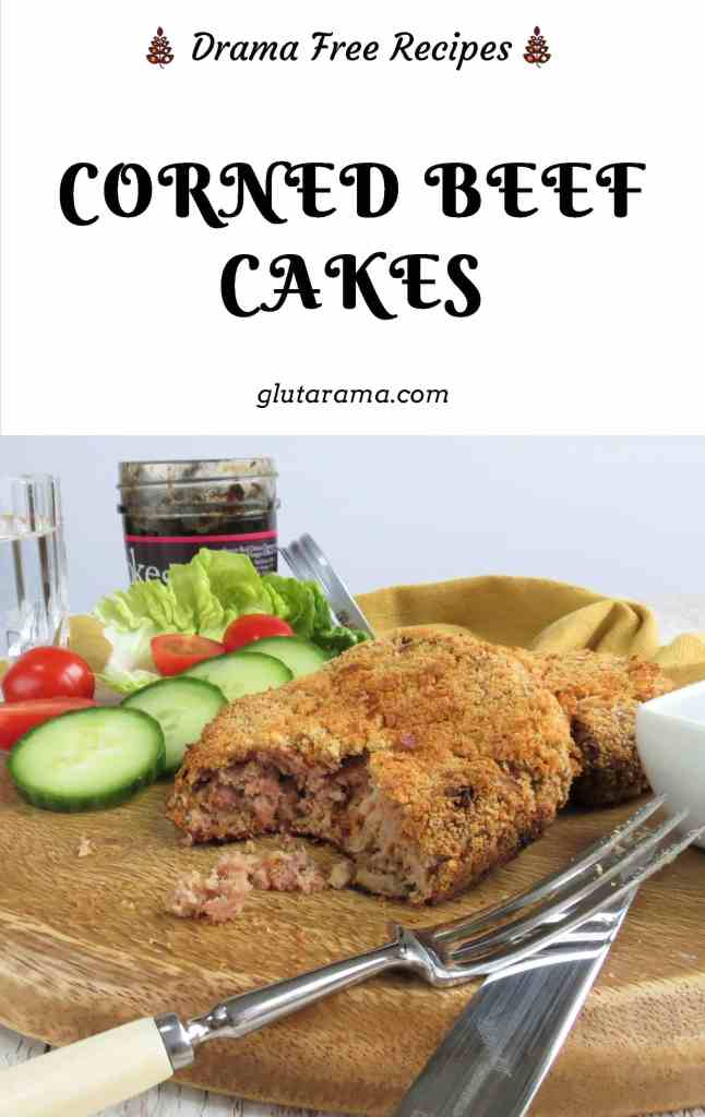 Corned Beef Cakes with no Potato; gluten free, dairy free and free from potato, these Corned Beef Hash Cakes are perfect to eat as a light lunch, supper or with sweet potato wedges and veggies for an evening meal, filling, nutritional and satisfying #glutenfree #dairyfree #eggfree #freefromgang #cornedbeef #dinnerideas #lightlunch