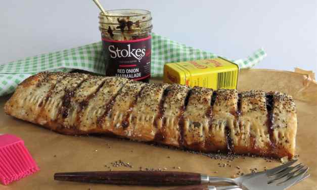 Sausage Roll with Chutney and Mustard
