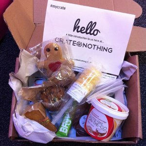photo of our Crate of Nothing gluten free box