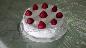 Gluten-Free Strawberry Cake with Whipped Cream Frosting