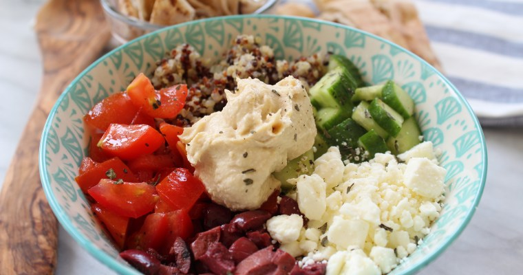 BeFree Pita Bread Product Review + Mediterranean Quinoa Salad Bowl