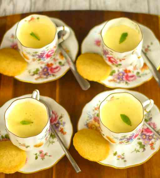 Tangy Lemon Posset cups from Apply to Face Blog. Divine Flourless desserts.