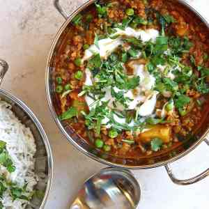 vegan-keema-recipe-with-peas