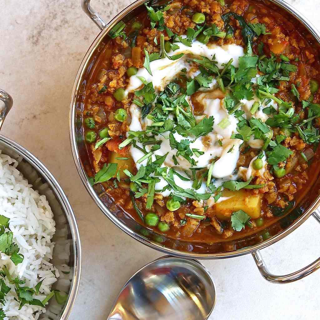 vegan-keema-recipe-with-peas