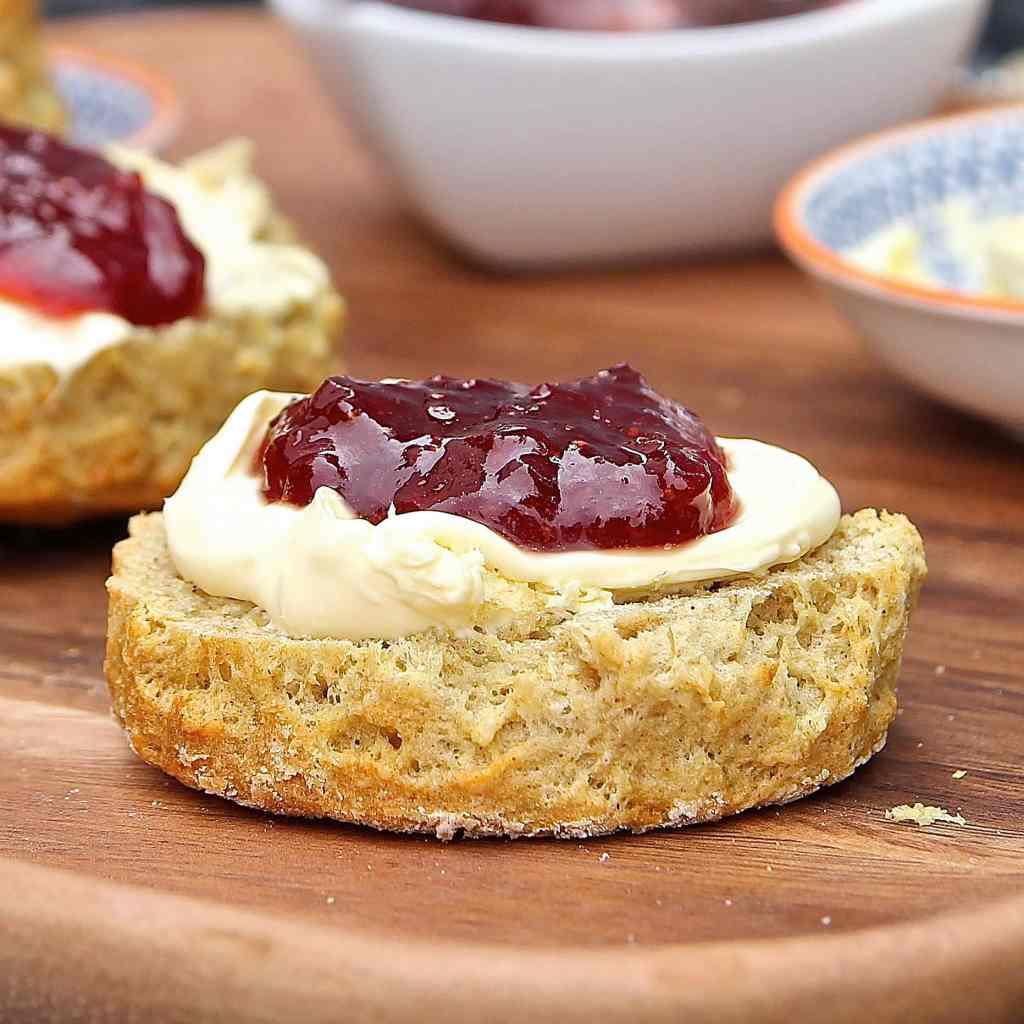 best-gluten-free-scones-jam-cream