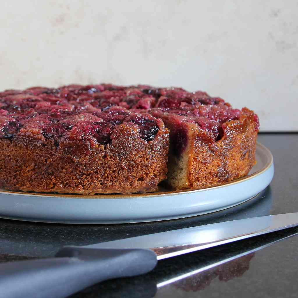 large-gluten-free-cherry-upside-down-cake
