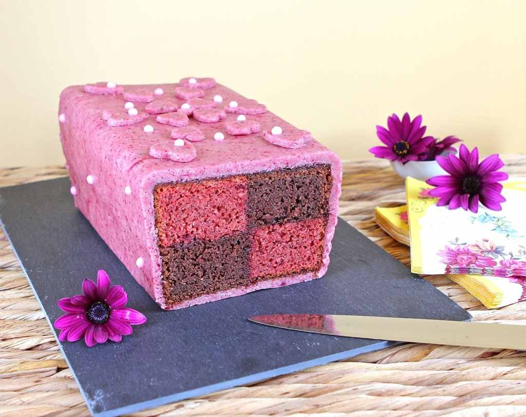 marzipan-cherry-chocolate-battenburg-cake