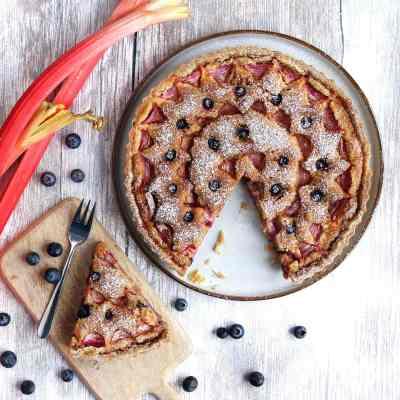 Rhubarb Frangipane Tart – Gluten Free with Flourless Frangipane