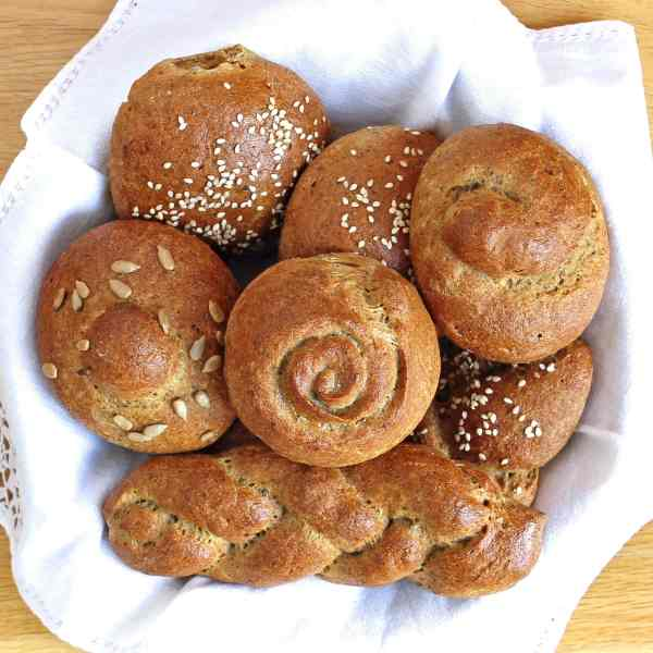 Artisan Gluten Free Rolls – Wholemeal shapable bread (opt dairy free)
