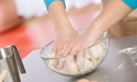 Baking - Hands of woman kneading healthy dough