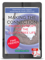 Making the Connection, Finding Support for the Gluten Free Life Cover