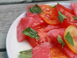 Watermelon Tomatoe Salad