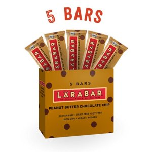 Larabar Gluten Free Snack Bars, Peanut Butter Chocolate Chip, 1.6 Ounce Bars (5 Count) from LÄRABAR