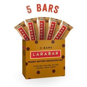 Larabar Gluten Free Snack Bars, Peanut Butter Chocolate Chip, 1.6 Ounce Bars (5 Count) from LÄRABAR