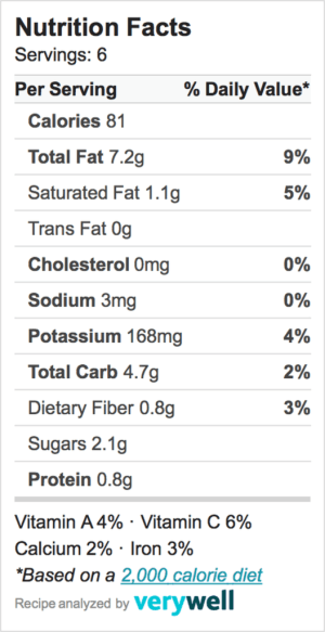 Nutrition-Label-cucumber salad