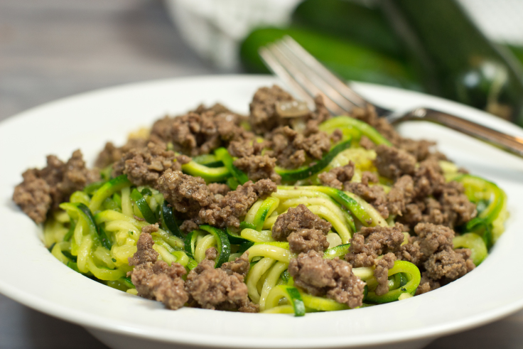 Zucchini Noodles With Buttery Beef Gravy