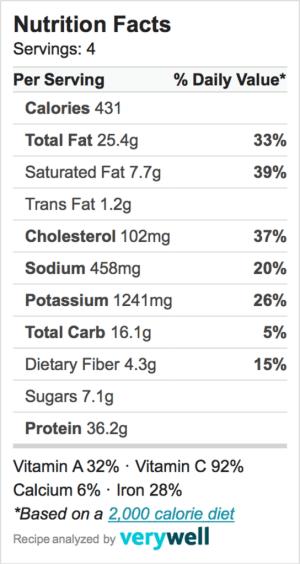 Nutrition-Label-Zoodles bolognese