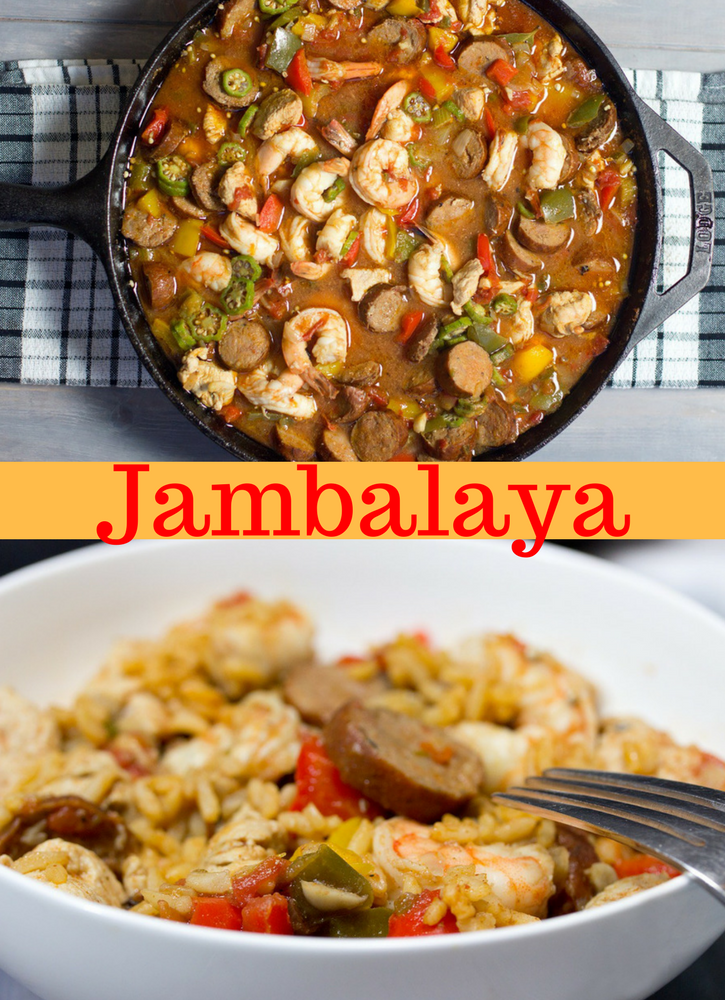 Healthy & easy Cajun recipe | gluten free recipe | paleo recipe | New Orleans style | Best chicken jambalaya with shrimp and Andouille sausage