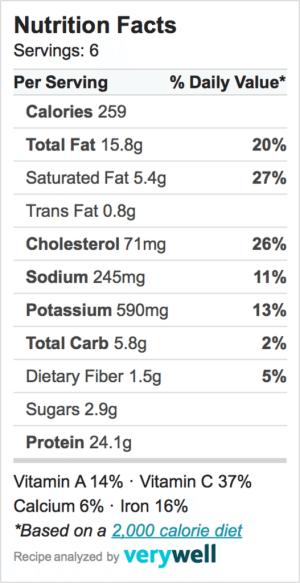 Nutrition-Label-zucchini roll-ups