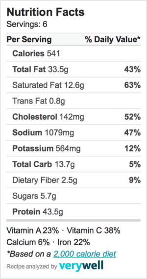Nutrition-Label-Embed-zucchini casserole