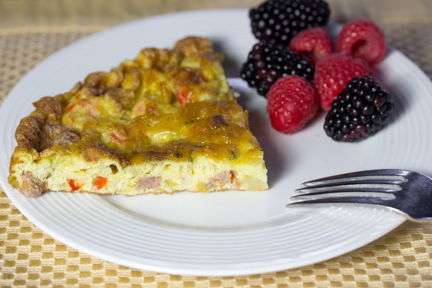 gluten free, frittata,Italian Frittata With Sausage, Red Peppers, Potatoes, And Onions, Hundred-Foot Journey