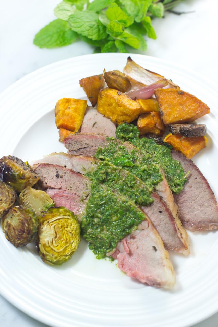 Bone In Lamb Leg Shank Half, Leg of lamb, mint pesto, mint, lamb soup, paleo, gluten free