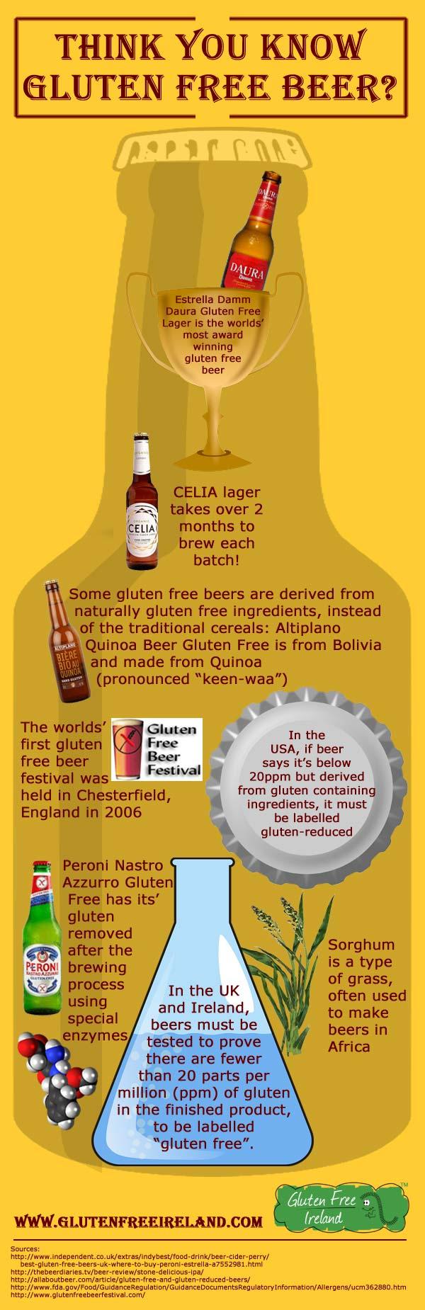 Gluten Free Beer Infographic
