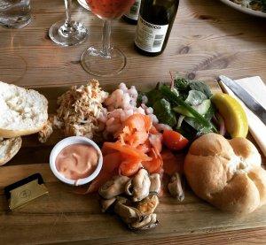 adventures of a gluten free globetrekker gluten free seafood platter Isle of Wight