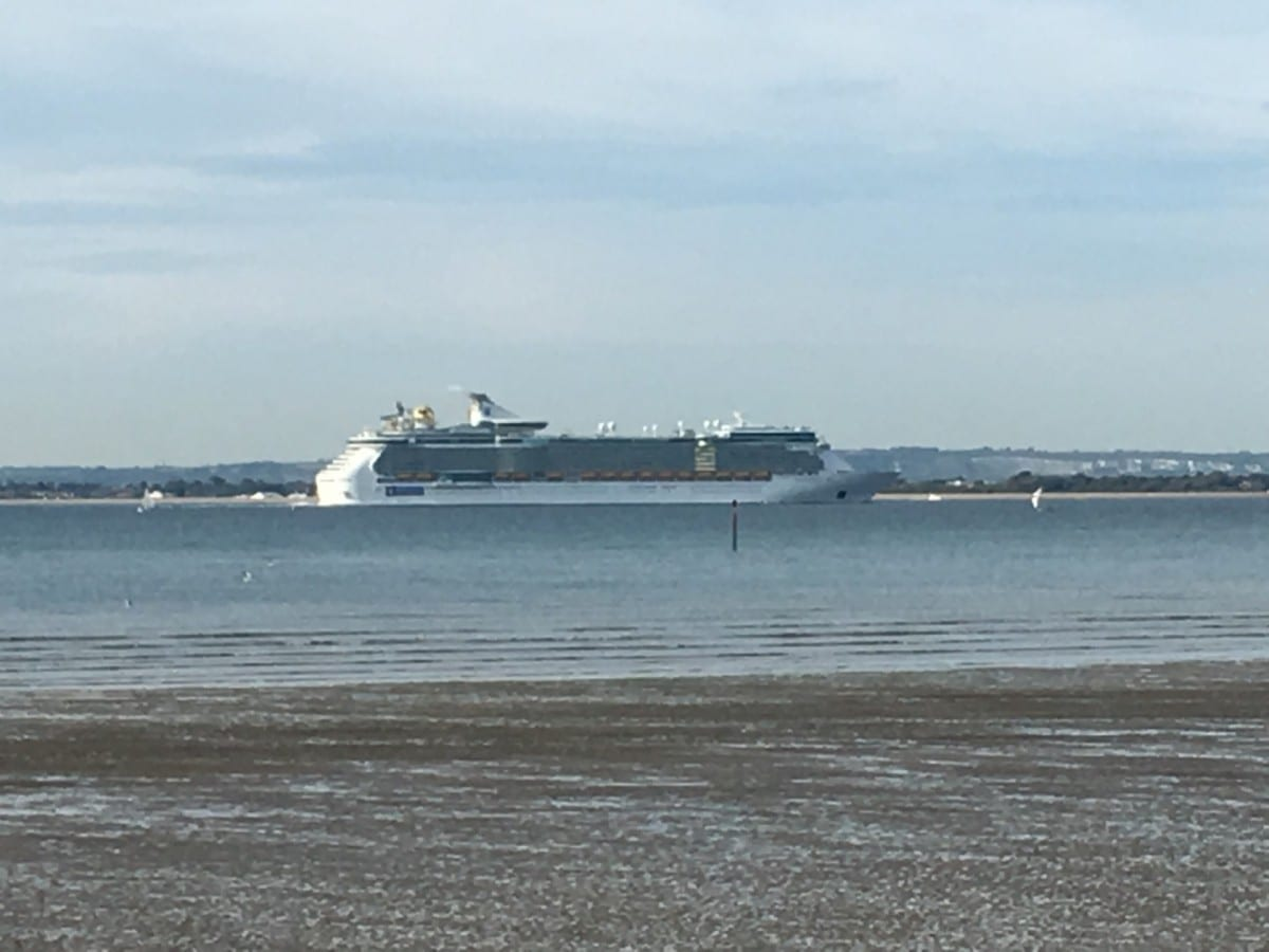 liner on the Solent