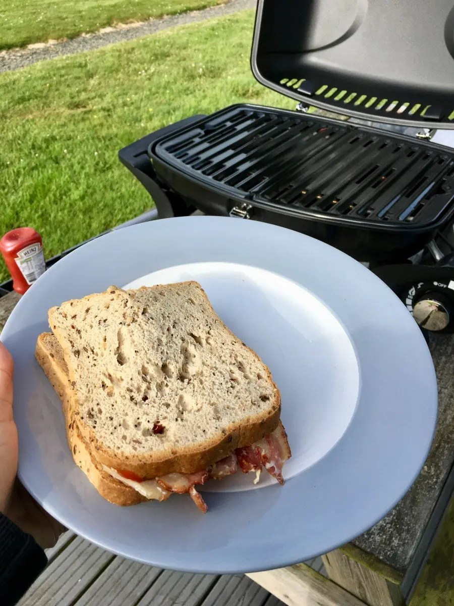 BBQ bacon sandwich