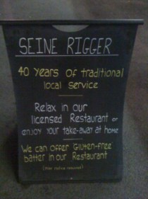 adventures of a gluten free globetrekker The Seine Rigger: Gluten Free Fish & Chips London