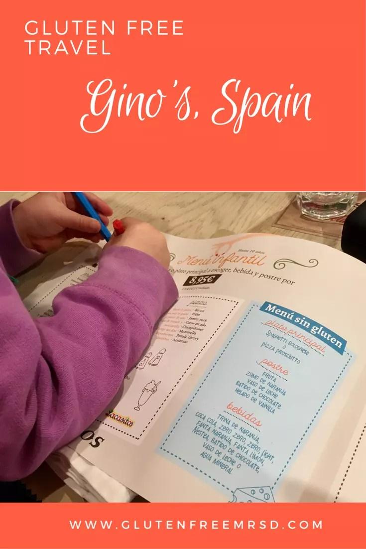 adventures of a gluten free globetrekker Gluten Free Spain: Gino's Spain Valencia