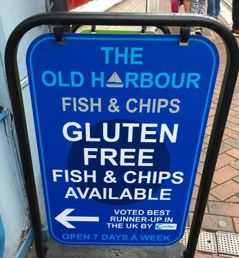 adventures of a gluten free globetrekker Gluten Free Fish and Chips at The Old Harbour, Weymouth Dorset