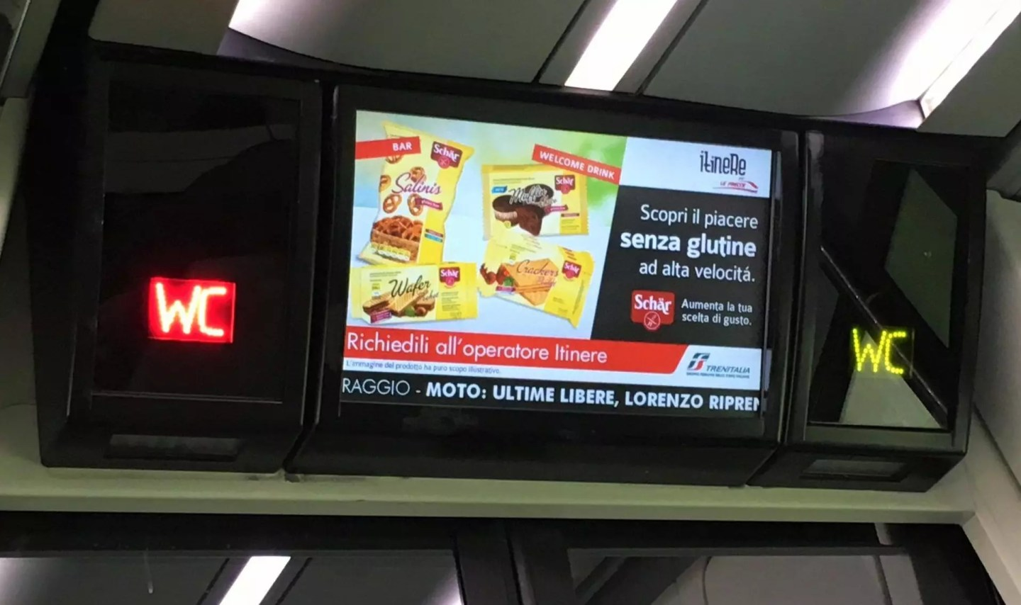 gluten Italy train travel