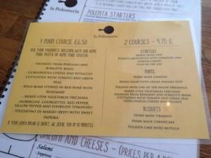 adventures of a gluten free globetrekker La Polenteria Menu