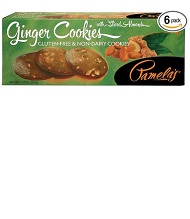 Gluten free Ginger Cookies with Sliced Almonds