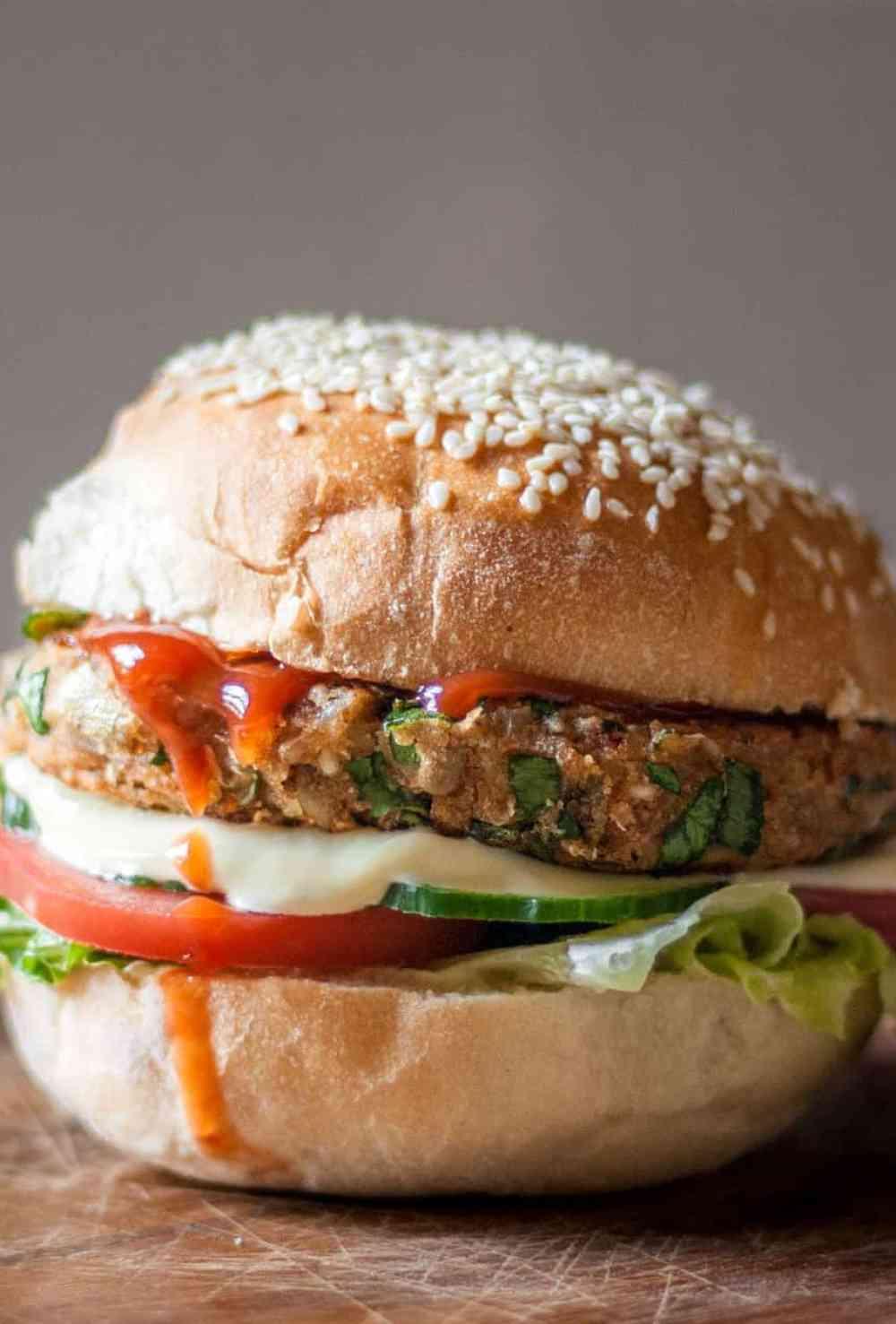 Food Photography Veggie Burger